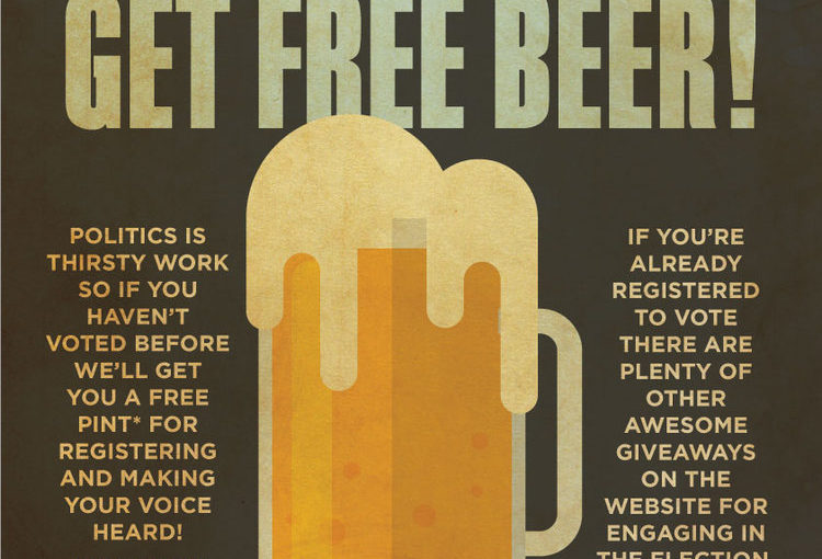 Vote this year, get free beer!