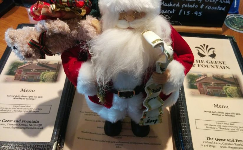 Christmas Menu – bookings now being taken