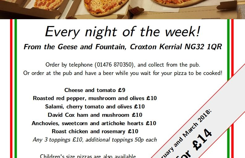 Take Away Pizza – Every Night Of The Week